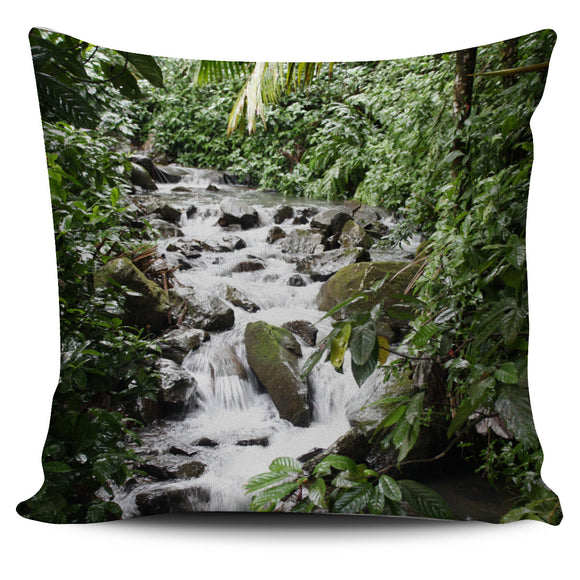 Beautiful Printed Caimitillo Waterfall Nature Bed Throw Or Couch Pillow Cover