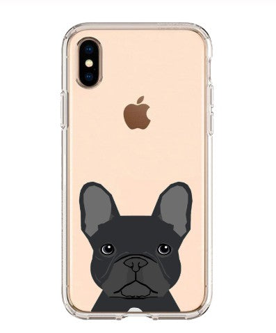 Clear Bulldog Cell Phone iPhone Protector Case For Dog Lovers