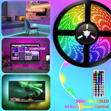 RGB 5050 Remote Control LED Strip Light 5M/10M/15M Waterproof Flexible Led Light Strip for Home Garden Decoration