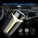 Car Diffusers - Car Air Humidifier Portable Bluetooth Hands-free USB MP3 Player Car Charger Aromatherapy Essential Oil Diffuser