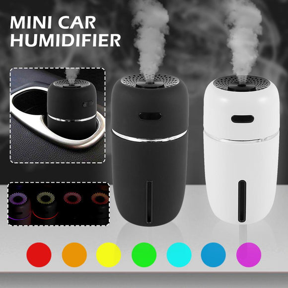 Car Diffusers - Mini Car Air Humidifier USB LED Ultrasonic Aromatherapy Essential Oil Diffuser For Car Or Home