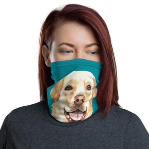 Face Masks - Neck Gaiter Face Scarf Multi-Functional Face Covering And Headband For Dog Lovers-Labrador