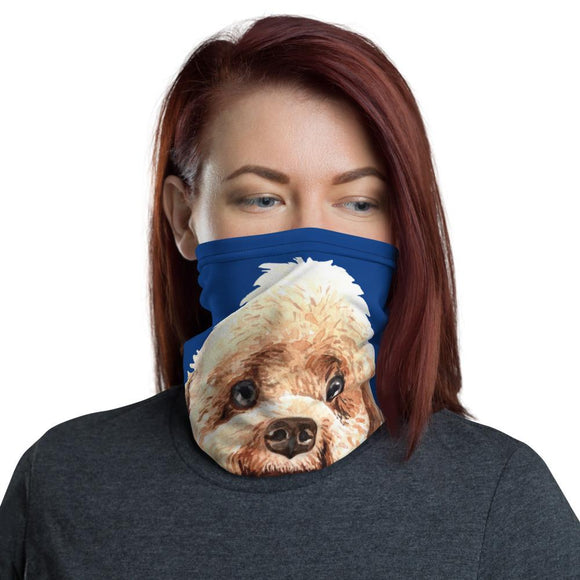 Face Masks - Neck Gaiter Face Scarf Multi-Functional Face Covering And Headband For Dog Lovers-Poodle