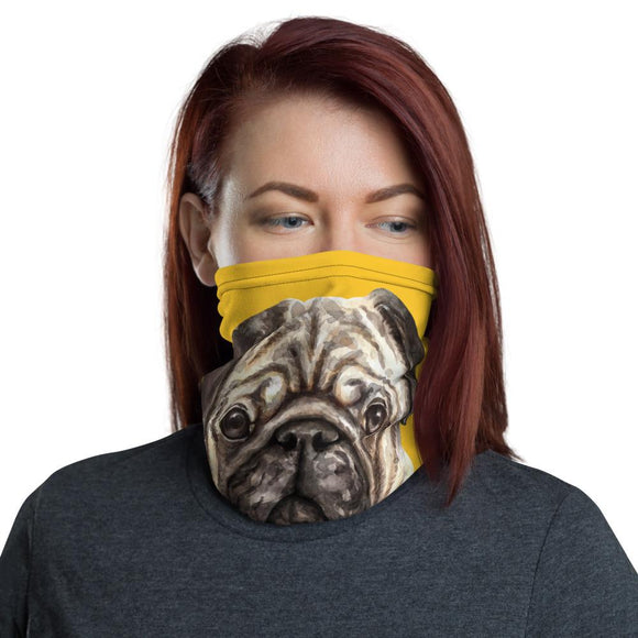 Face Masks - Neck Gaiter Face Scarf Multi-Functional Face Covering And Headband For Dog Lovers-Pug