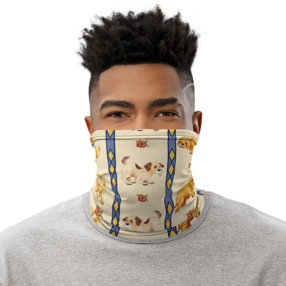 Face Masks - Neck Gaiter Face Scarf Multi-Functional Face Covering And Headband For Dog Lovers-Puppy Stripes
