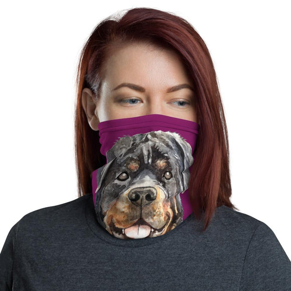 Face Masks - Neck Gaiter Face Scarf Multi-Functional Face Covering And Headband For Dog Lovers-Rottweiler