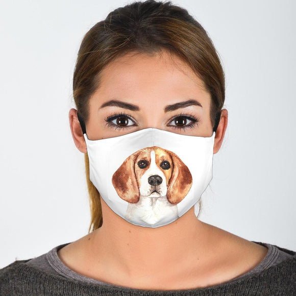Face Masks - Protective Reusable Washable Fabric Face Mask With Filter Pocket For Dog Lovers
