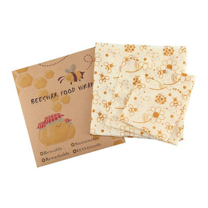 Food Storage - 3-Pack Washable Reusable Beeswax Food Seal Wrap