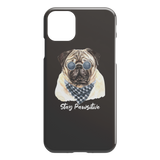 Stay Pawsitive Pug Cell Phone iPhone Protector Case For Dog Lovers