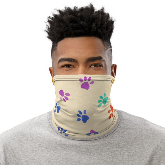 Neck Gaiter Face Scarf Multi-Functional Face Covering and Headband For Dog Lovers-Heart Paw Prints