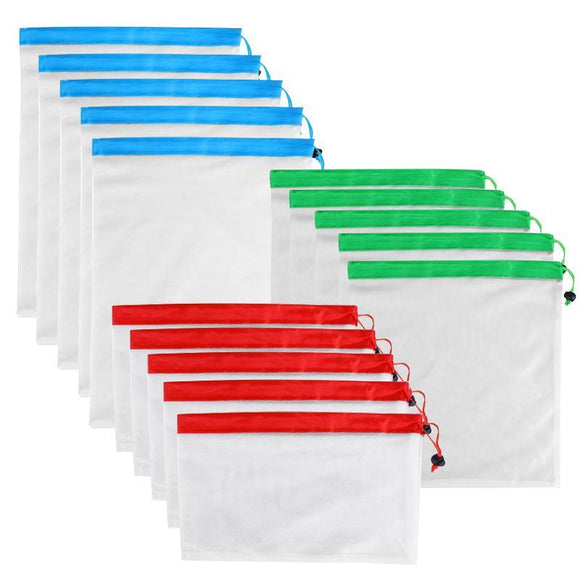 Produce Bags - Eco-Friendly Reusable Washable See-Through Mesh Produce Bags