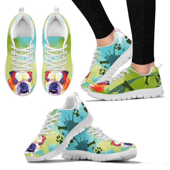 Shoes - Bulldog Spring Ready Running Shoes - Women's Sneakers For Dog Lovers