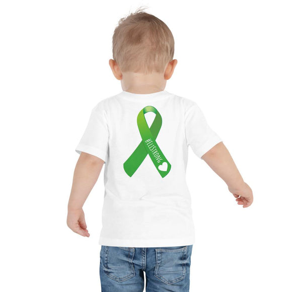 T-shirt Eli - #EliStrong Liver Transplant Ribbon Toddler Short Sleeve Tee