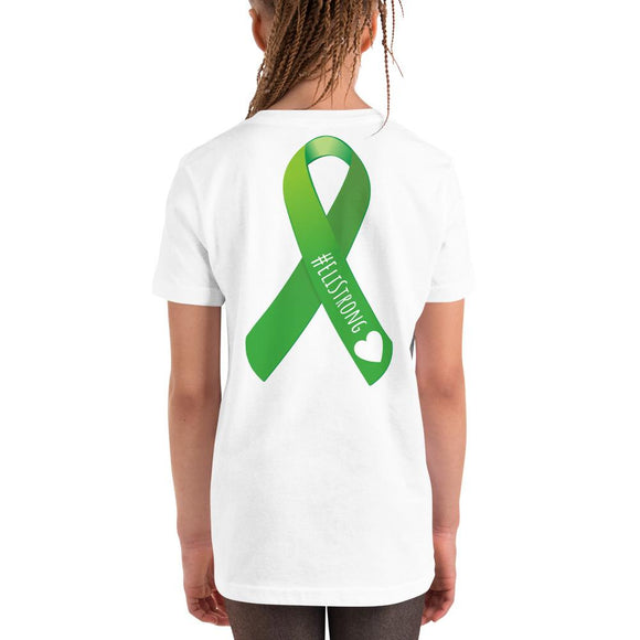 T-shirt Eli - #EliStrong Liver Transplant Ribbon Youth Short Sleeve T-Shirt