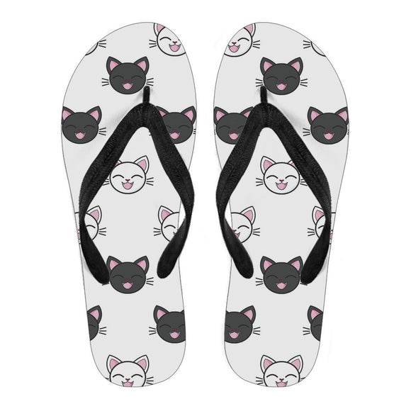 Women's Flip Flops - Happy Kitties Women's Flip Flops For Cat Lovers