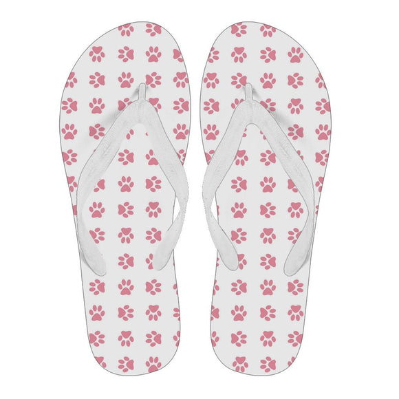 Women's Flip Flops - Paw's Women's Flip Flops For Cat Lovers