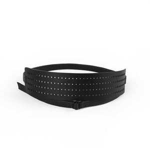 Laser cut recycled leather belt