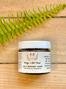 Magic Mud ™  Eco Shimmer Mask 2 oz