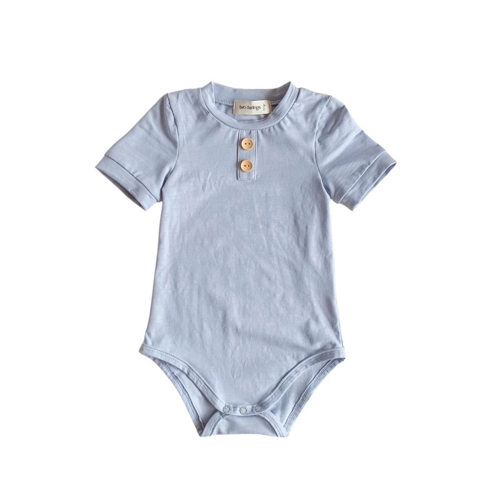 Pale Blue Bamboo Bodysuit