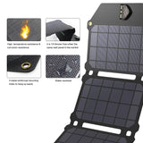 ALLPOWERS 21W Solar Powered Cell Phone Charger with Dual USB