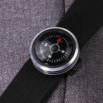 Survival Mini Pocket Compass with Liquid Filled Button Design (FREE SHIPPING)