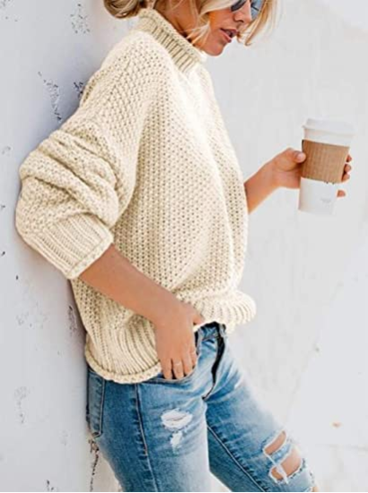 Loose round neck pullover