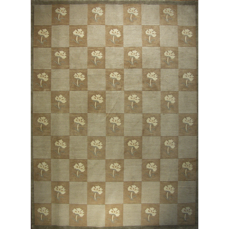 ROJA MODERN WOOL CONTEMPORARY RUG 9'X12'