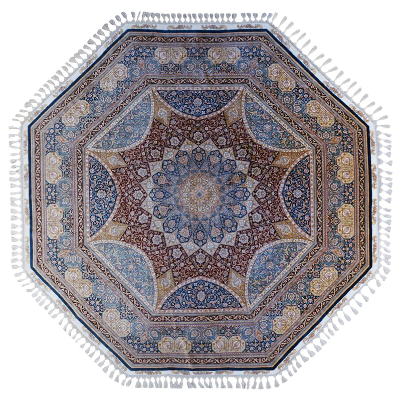 ROJA OCTAGONAL ROYAL SILK AREA RUG