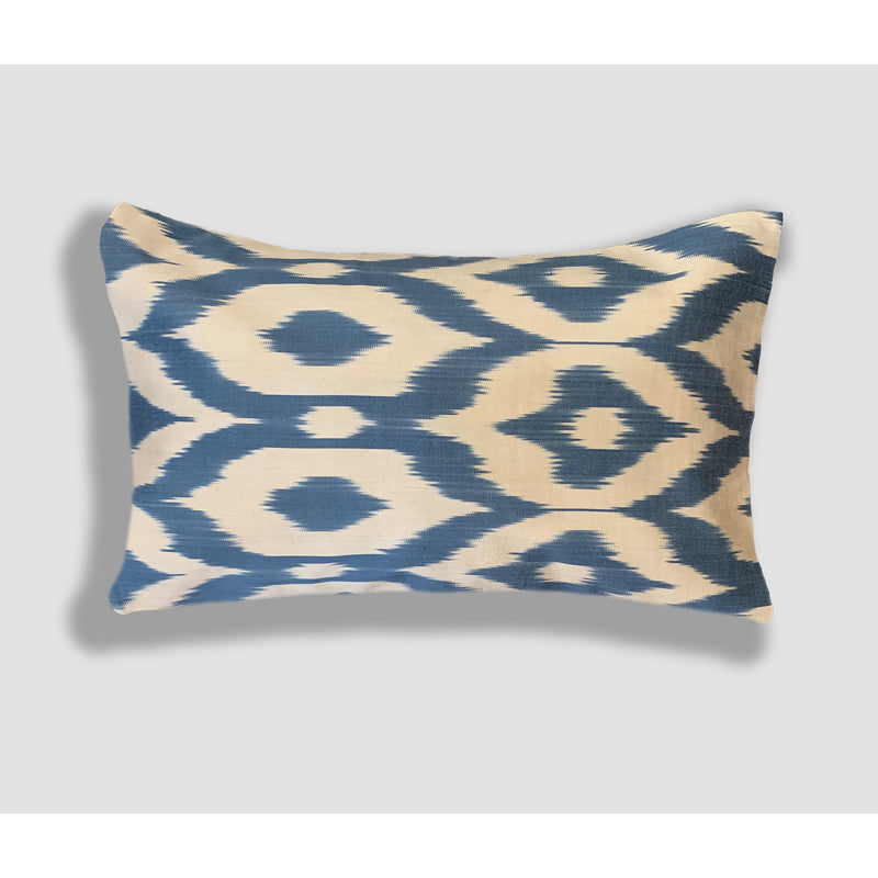 Velvet & Ikat Silk Pillow