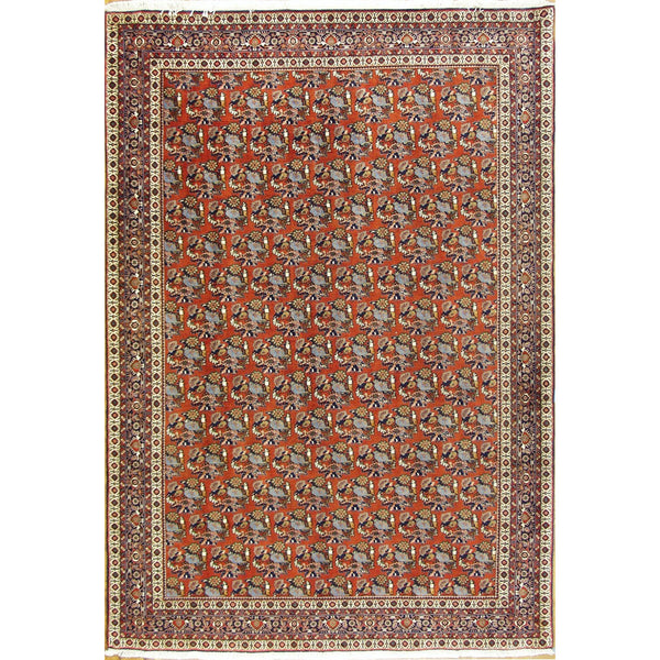 65199 VINTAGE BIJAR SENNEH WOOL TRADITIONAL