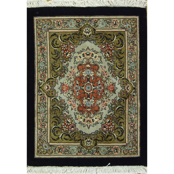 BIJAR SILK & WOOL TRADITIONAL  RUG 2'X2'9''