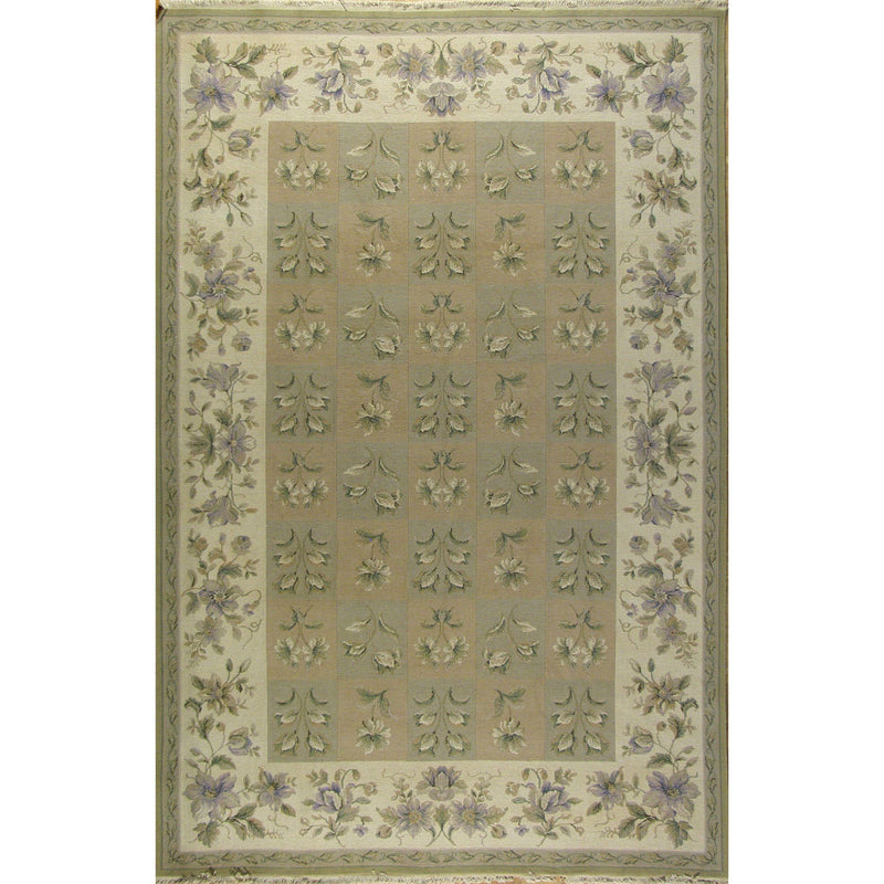 FLORAL SUMAC WOOL TRADITIONAL RUG 5'6''X8'6''