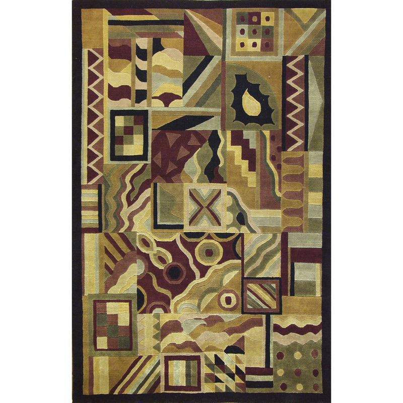 CUBES WOOL CONTEMPORARY RUG 5'X8'