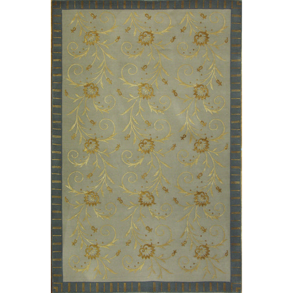 FLOWERS WOOL CONTEMPORARY RUG 5'6''X8'6''