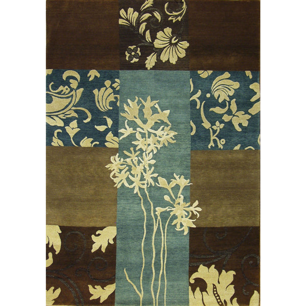 ROJA MODERN WOOL CONTEMPORARY RUG 5'6''X7'9''