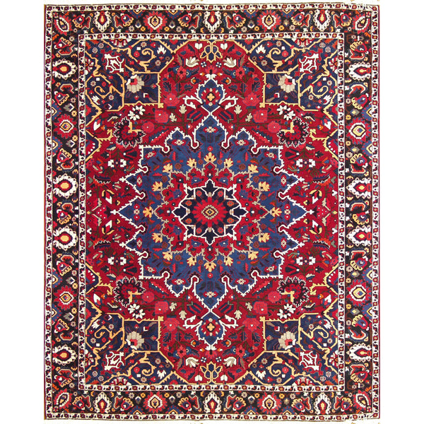 65256 BAKTIARI MEDALLION WOOL TRADITIONAL RUG 10'X12'5''