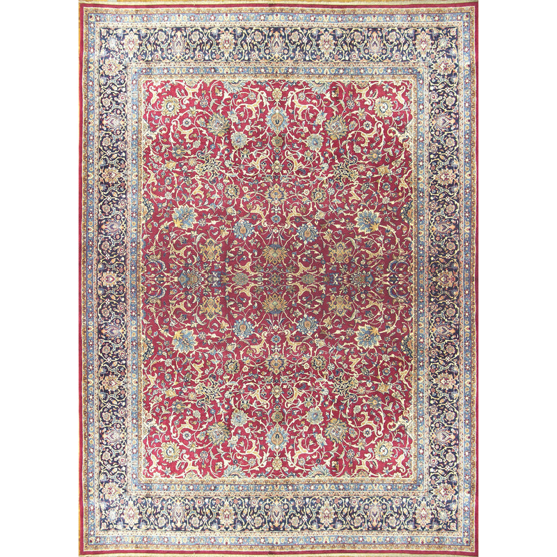 SAROUK VINES WOOL TRADITIONAL RUG 10'6''X14'