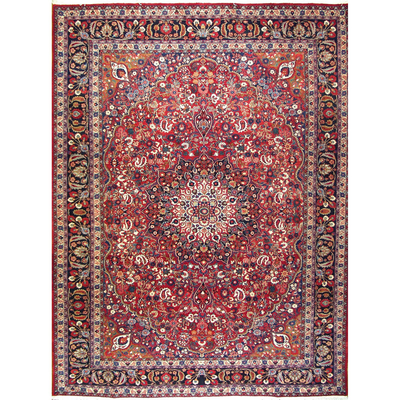 FINE MOUD WOOL TRADITIONAL RUG 8'8''X11'8''