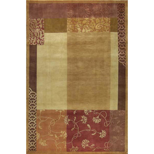 ROJA MODERN WOOL CONTEMPORARY RUG 6'X9'