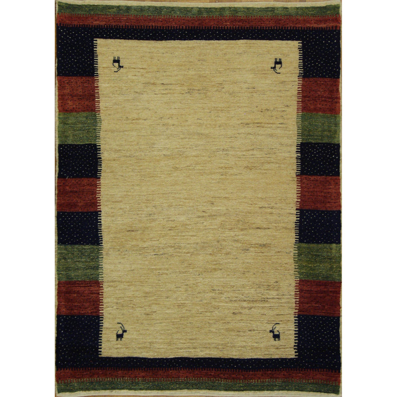 GABBEH LORIBAF WOOL TRADITIONAL RUG 3'6''X4'9''