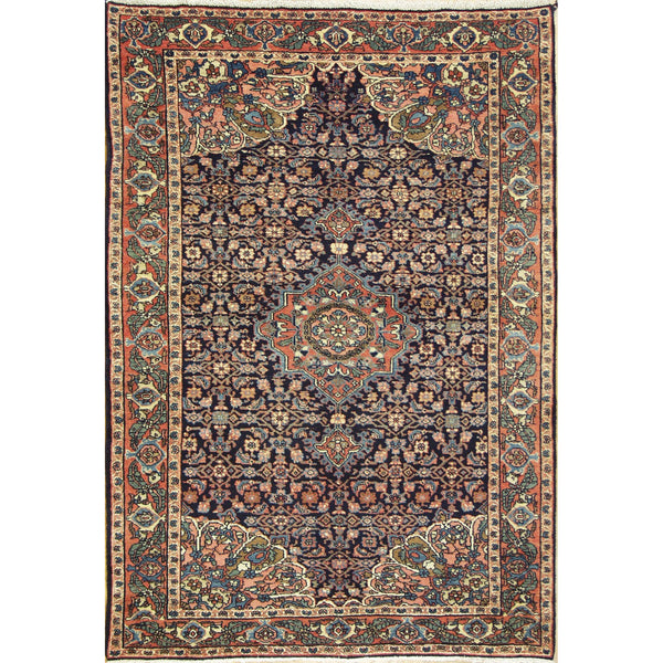 ANTIQUE BIDJAR HERATI WOOL	TRADITIONAL RUG 4'4''X6'3''