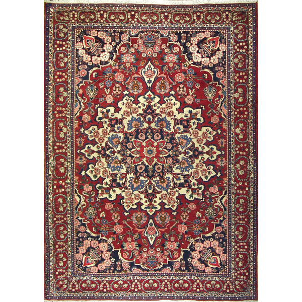 BAKTIARI MEDALLION WOOL TRADITIONAL RUG 8'7''X11'10''