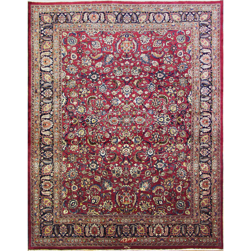 SIGNATURE MASHAD WOOL TRADITIONAL RUG 9'10''X12'7''