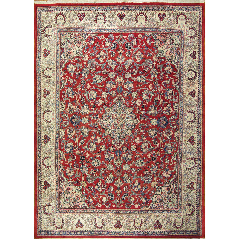 SAROUK MAHAL WOOL TRADITIONAL RUG 9'7''X13'