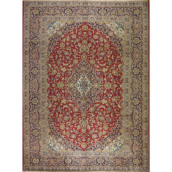 KASHAN WOOL TRADITIONAL RUG 9'9''X13'
