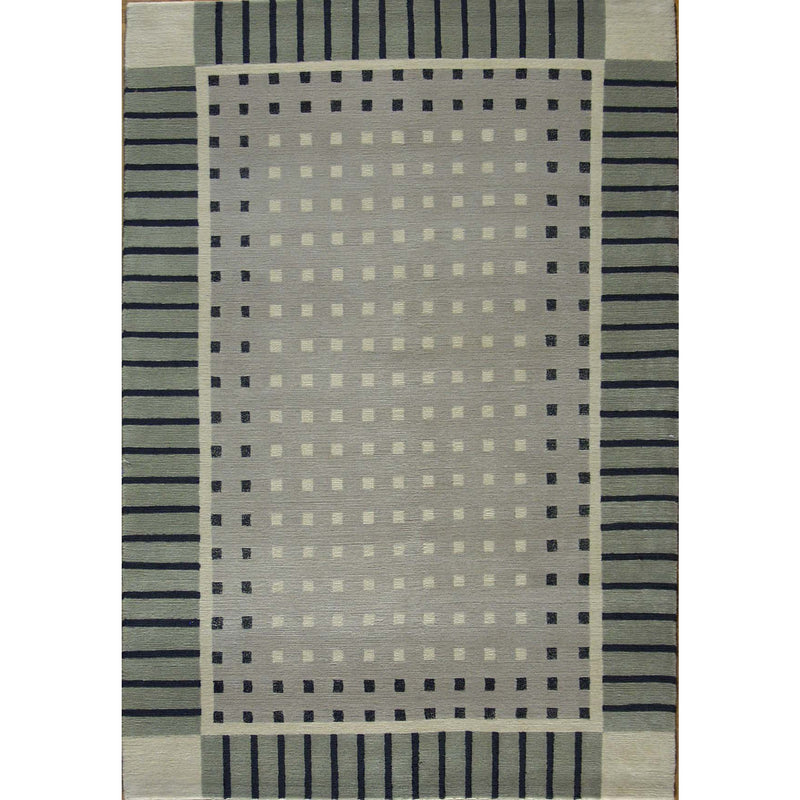 NEPALI WOOL CONTEMPORARY RUG 4'X6'