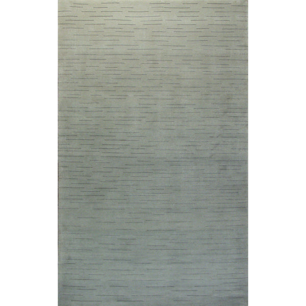 NEPALI MODERN SILK & WOOL CONTEMPORARY RUG 5'X8'