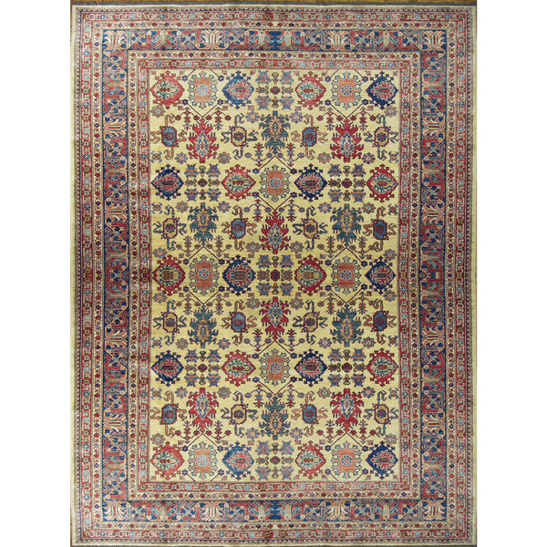 65308 KAZAK WOOL TRADITIONAL RUG 10'4''X13'4''