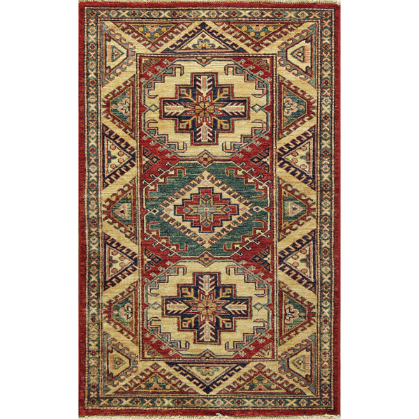 65312 KAZAK WOOL TRADITIONAL  RUG 3'X5'