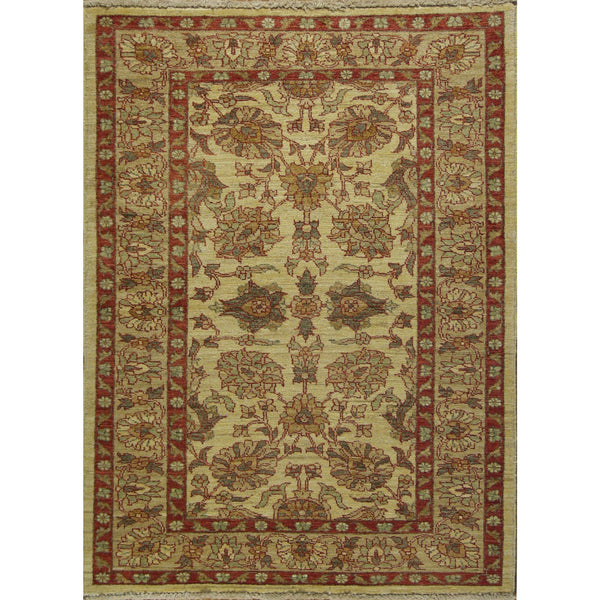 65314 OUSHAK WOOL TRADITIONAL RUG 3'6''X4'9''
